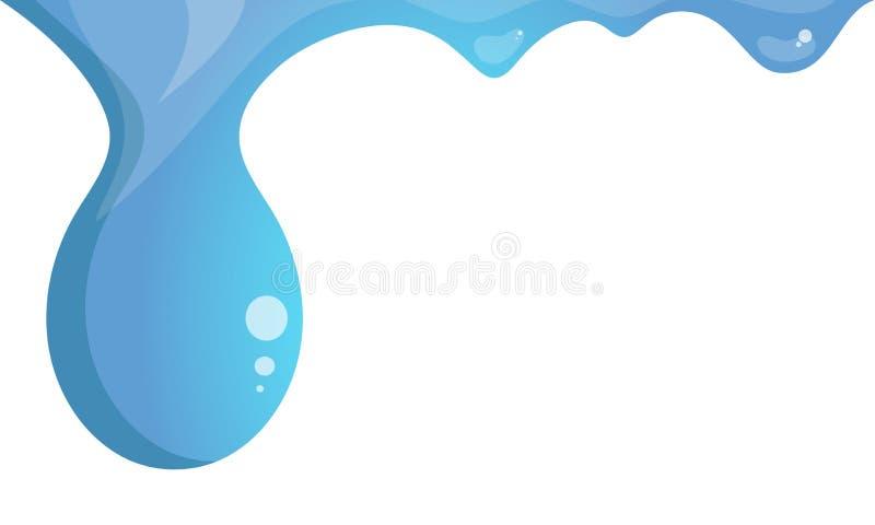 Gotas da água corridas para baixo ilustração stock