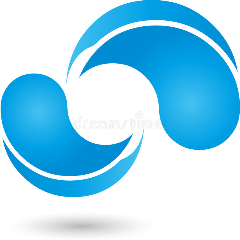 Gotas da água, gotas, logotipo da água ilustração do vetor