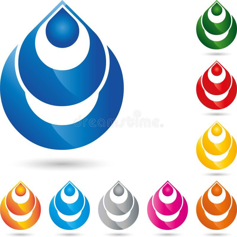 Gotas da água, gotas, logotipo da água ilustração stock