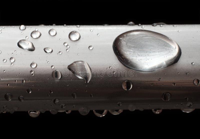 Gotas da água na câmara de ar misted do metal imagens de stock royalty free