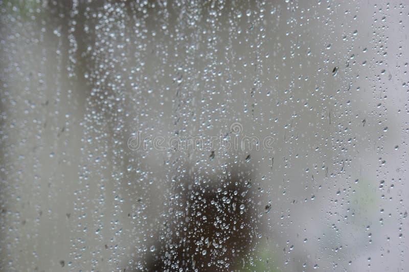 Gotas da água no vidro foto de stock royalty free