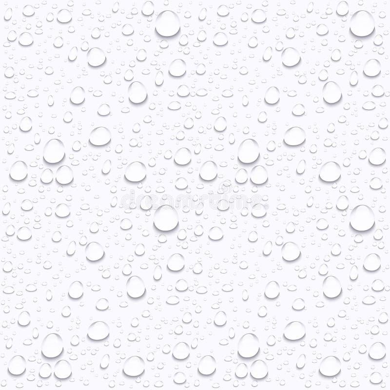 Gotas da água no vidro do carro gotas da chuva na janela clara ilustração royalty free
