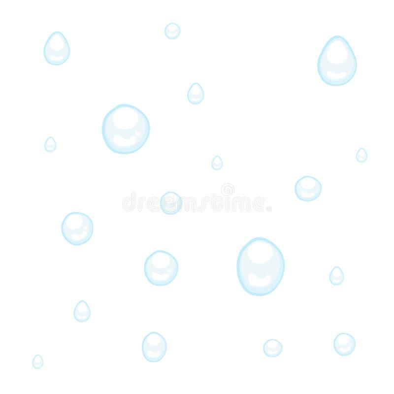 Gotas da água ou da chuva no branco ilustração royalty free