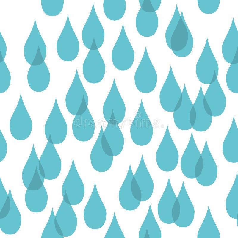 Gotas da água Teste padrão sem emenda estilizado ilustração royalty free
