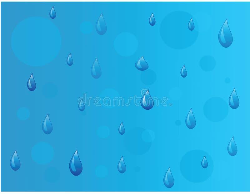 Gotas da chuva ilustração do vetor