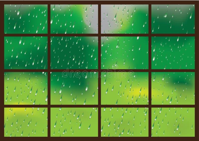 Gotas da chuva em um indicador ilustração royalty free