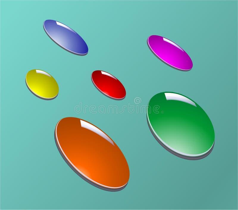 Gotas da cor ilustração do vetor