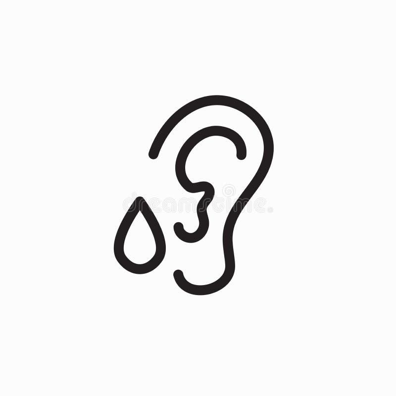 Gotas da orelha para o tinnitus ou a perda da audição ilustração do vetor