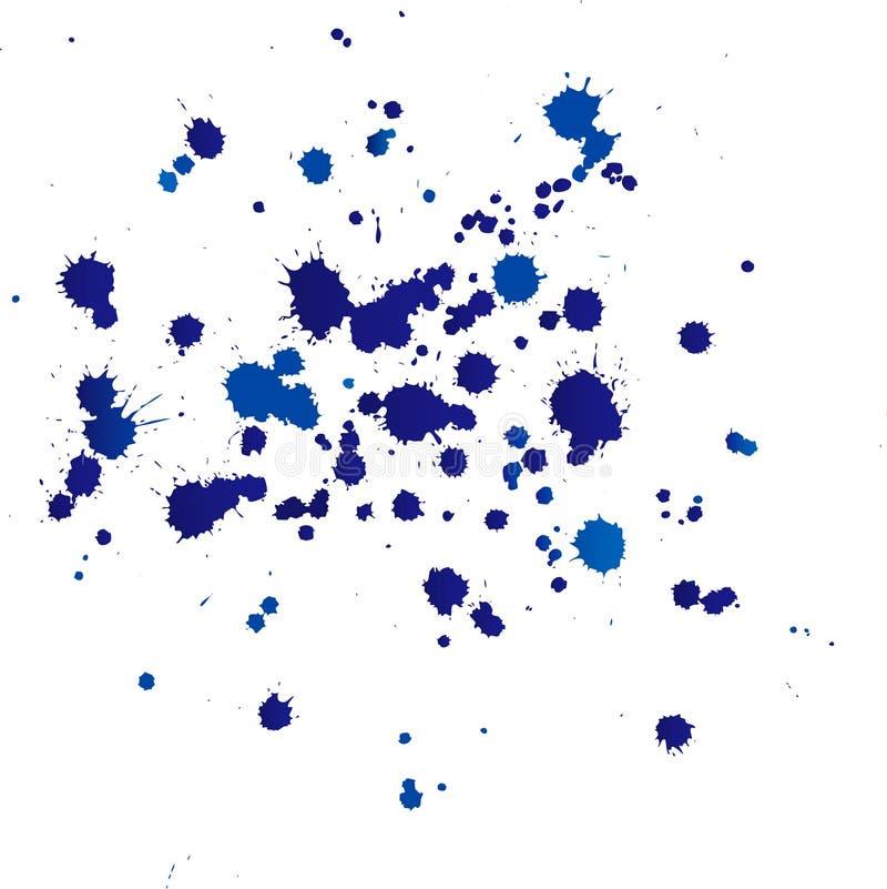 Gotas da tinta ilustração stock