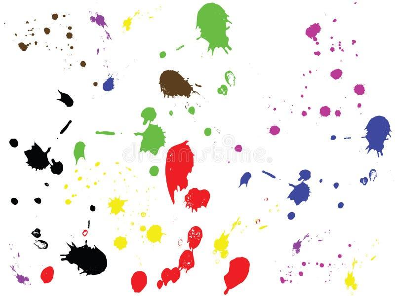 Gotas da tinta do vetor. ilustração stock