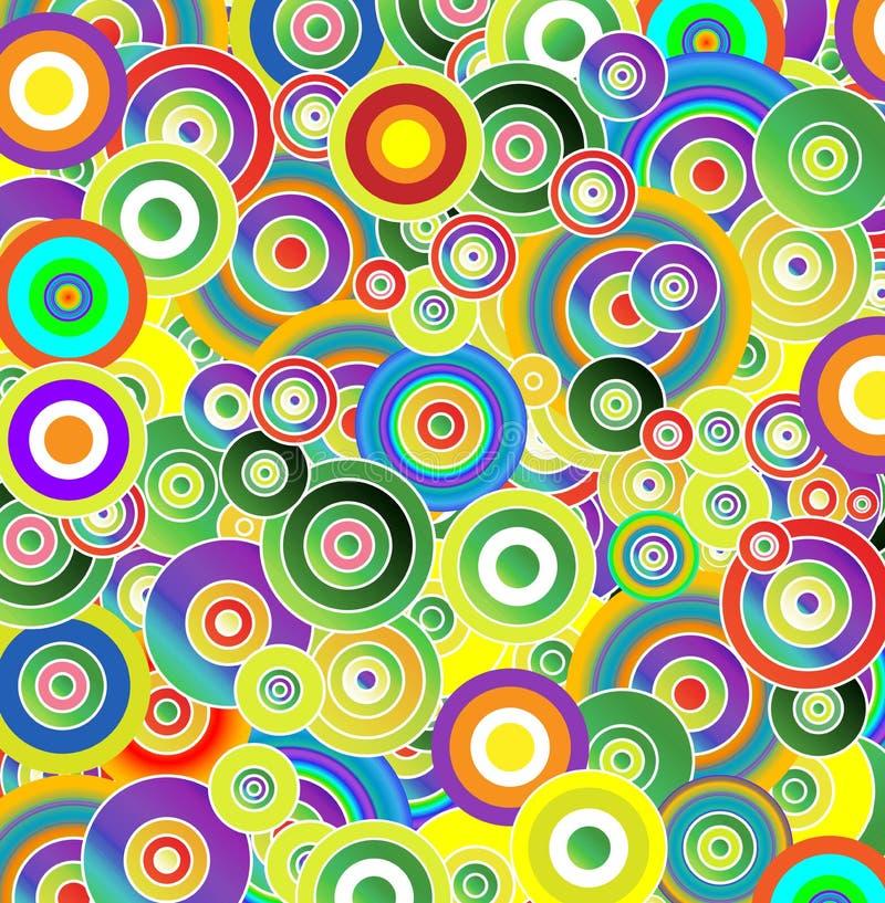 Gotas das cores ilustração stock