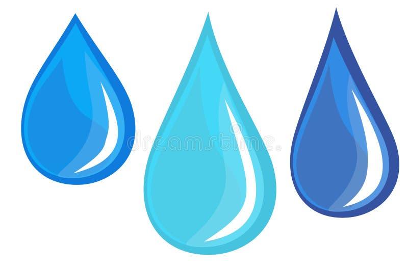 Gotas de água ilustração stock