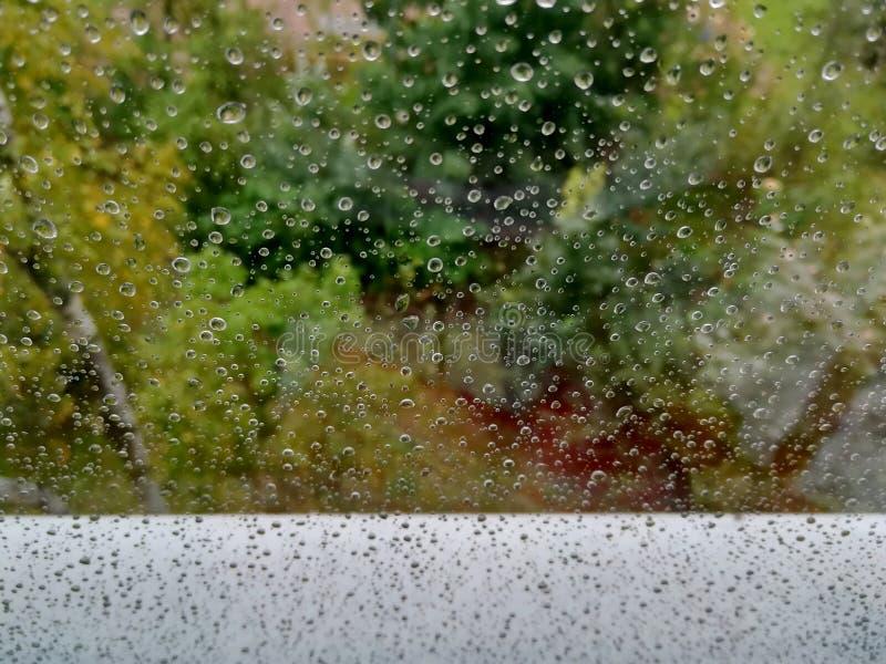 Gotas de agua sobre el vidrio fotografía de archivo