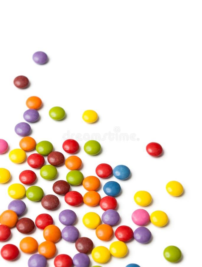 Gotas de chocolate pequenas imagem de stock