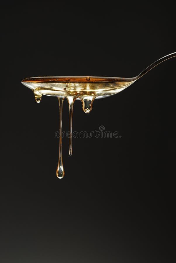 Gotas de la miel foto de archivo