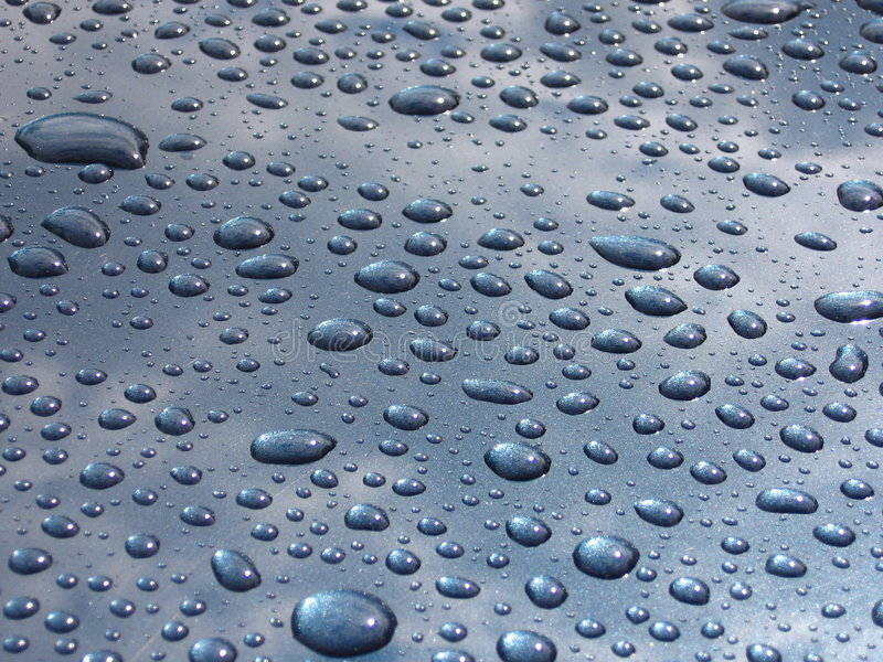 Gotas de lluvia fotografía de archivo libre de regalías