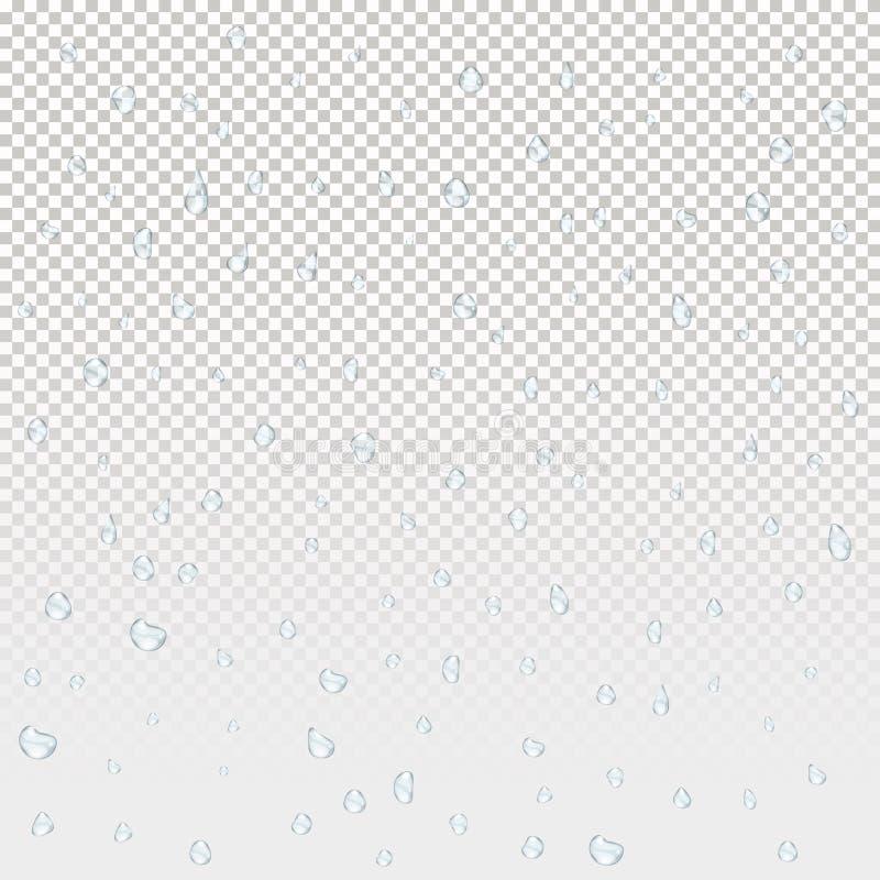 Gotas de lluvia del agua ilustración del vector