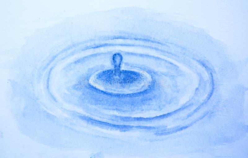 Gotas de lluvia en la superficie del agua fotografía de archivo
