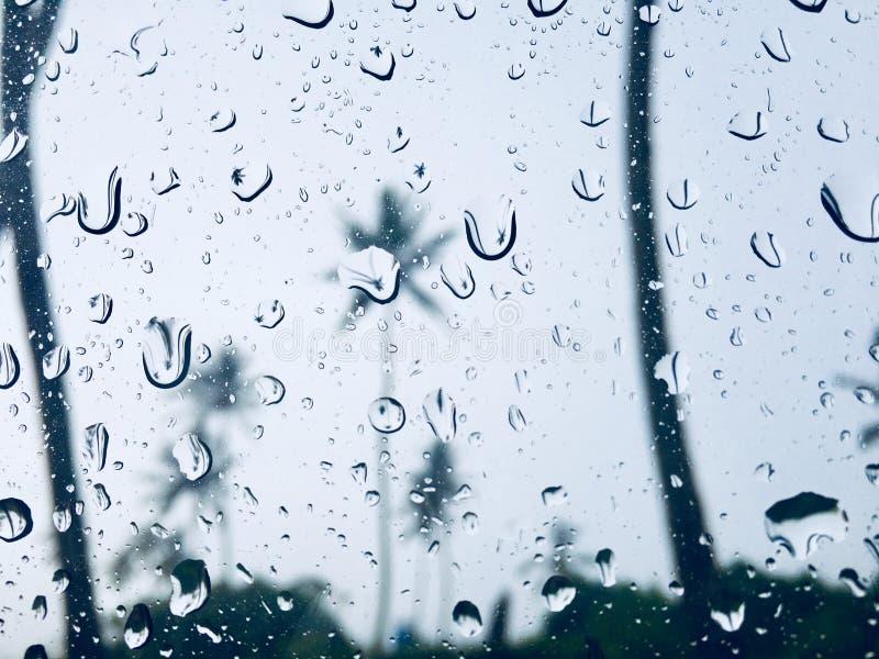 Gotas de lluvia en la ventana fotografía de archivo
