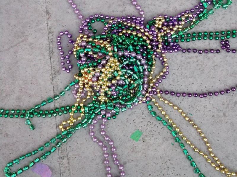 Gotas de Mardi Gras imagen de archivo libre de regalías