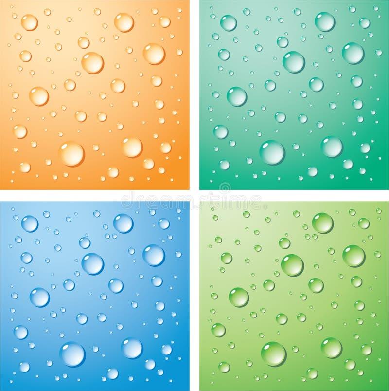 Gotas del agua stock de ilustración