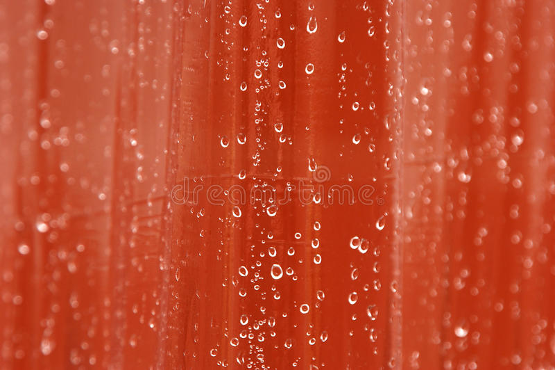 Gotas del agua en la cortina imágenes de archivo libres de regalías