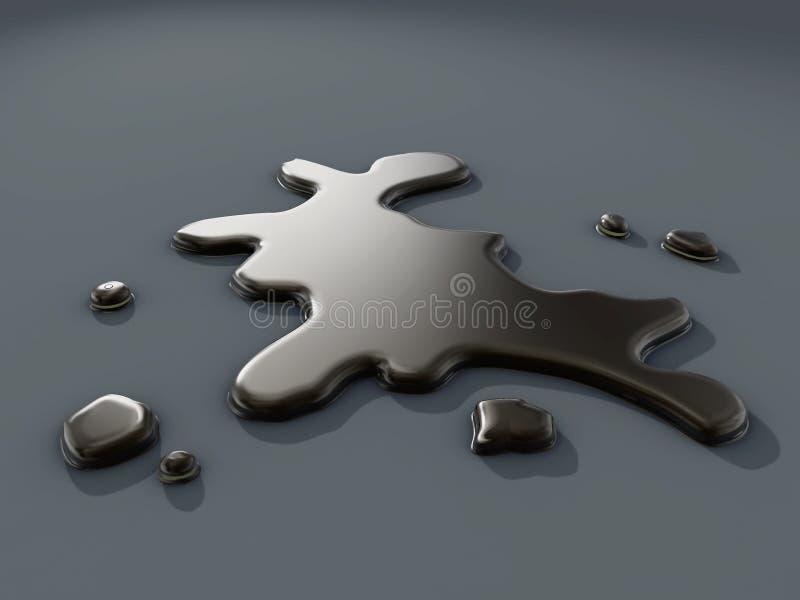 Gotas del petróleo ilustración del vector