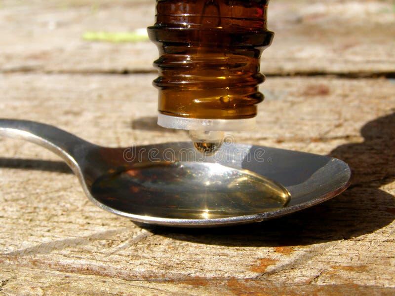 Gotas do medicamento fotografia de stock