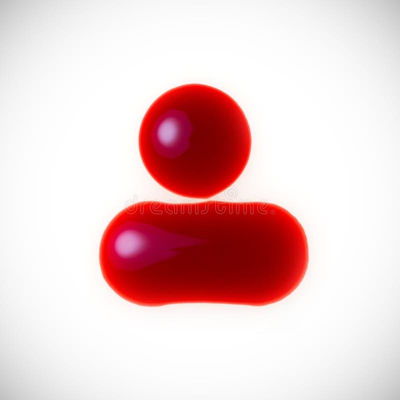 Gotas do sangue fotos de stock royalty free