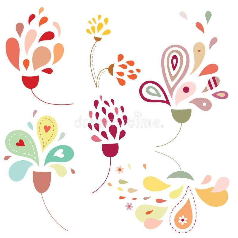 Gotas florais ilustração stock