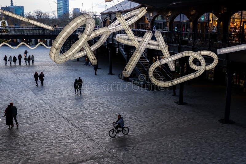 Gotas jarda de carvão, Londres imagem de stock