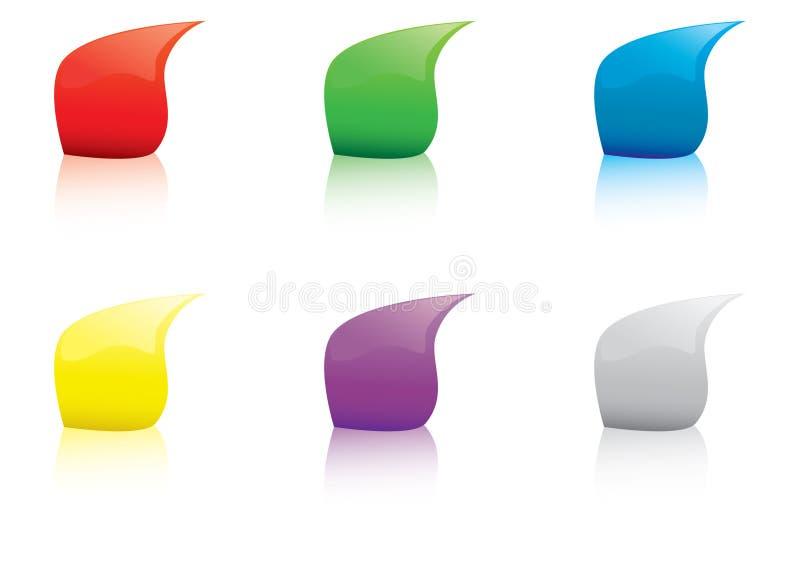 Gotas Multicolor ilustração royalty free