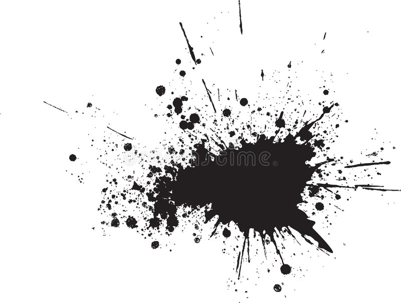 Gotas negras abstractas del aerosol del vector stock de ilustración