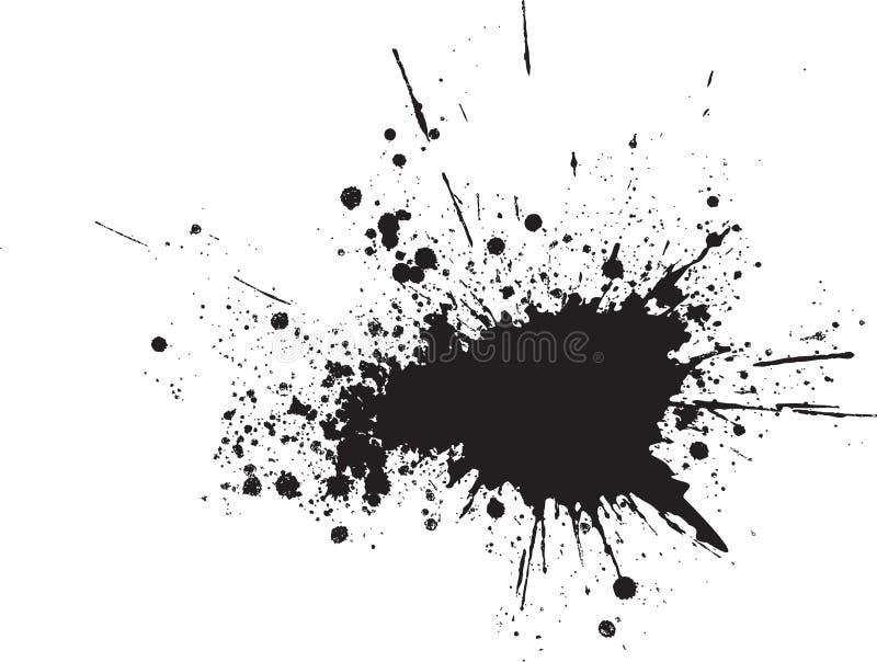 Gotas pretas abstratas do pulverizador do vetor ilustração stock
