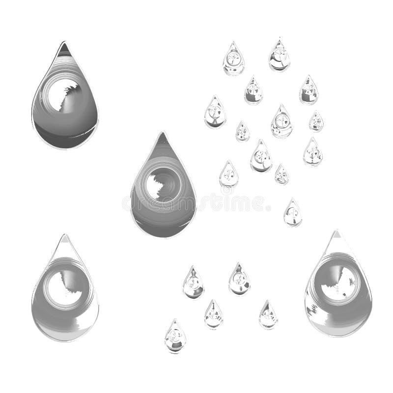 Gotas reflexivas ou rasgos da chuva ilustração do vetor