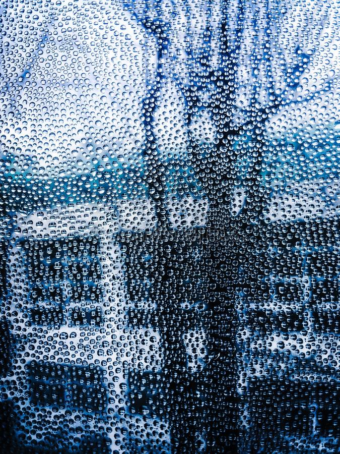 Gotas sobre el vidrio imagen de archivo