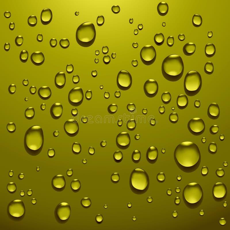 Gotas transparentes del agua stock de ilustración