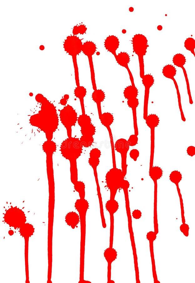 Gotas vermelhas no fundo branco ilustração do vetor
