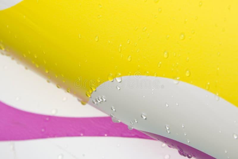 Gotas y color del agua imagen de archivo libre de regalías