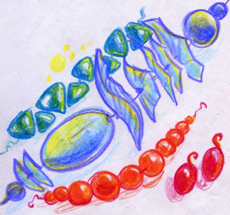 Gotas y pendientes bosquejados libre illustration