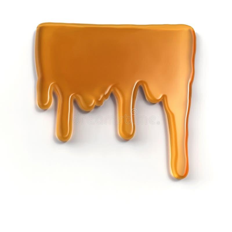 Gotea la miel ilustración del vector