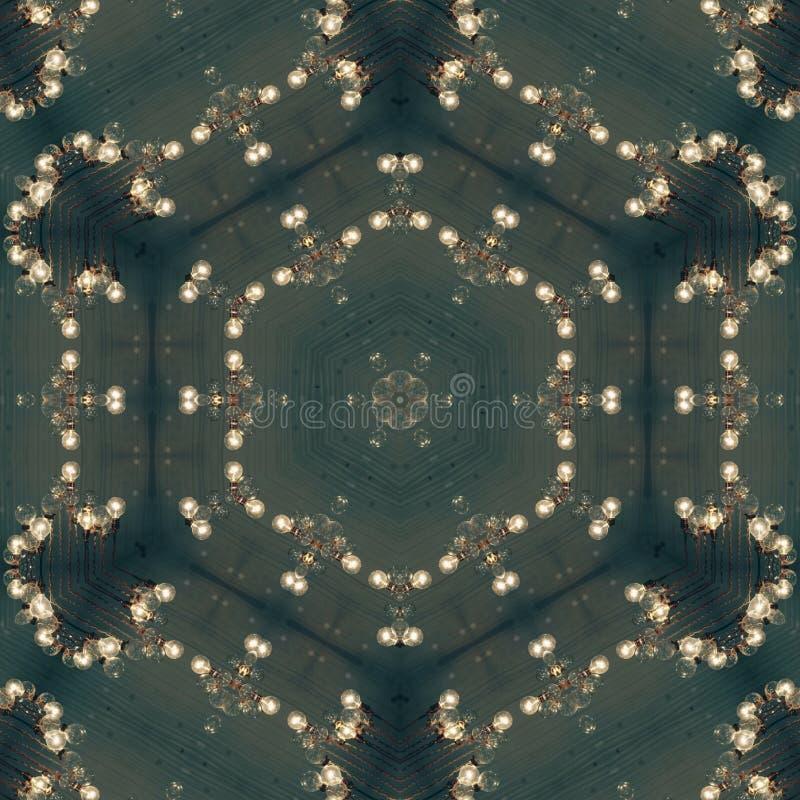 Gotea la plantilla abstracta del diseño de la mandala stock de ilustración