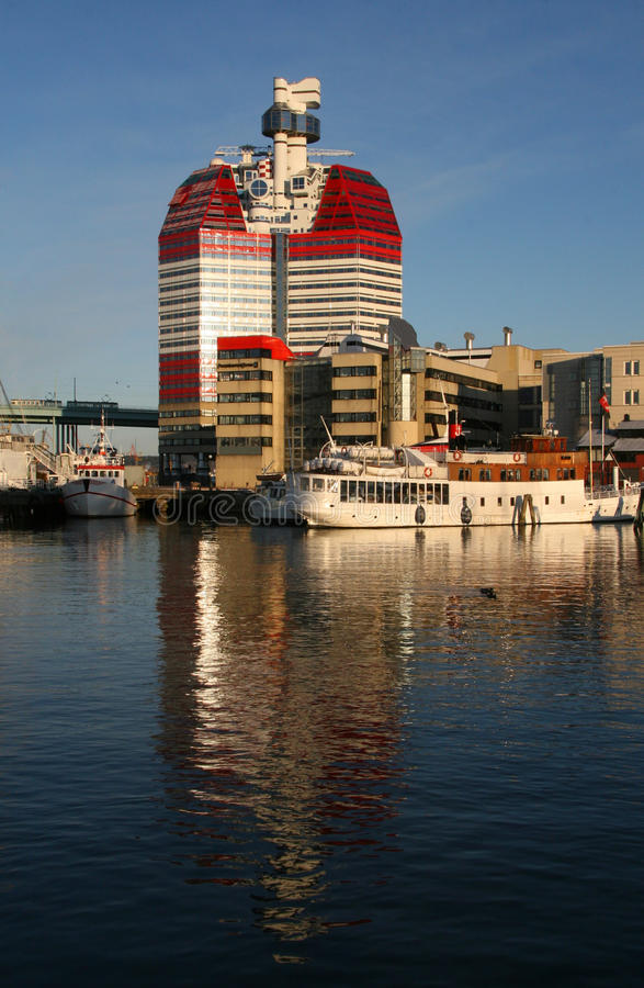 goteborg port royaltyfri fotografi