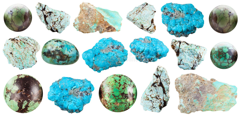 Gotee de piedra de gema mineral de la turquesa verde vieja for Piedra preciosa turquesa