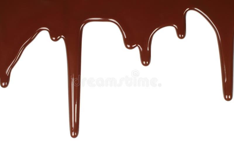 Gotejamento derretido do chocolate fotos de stock