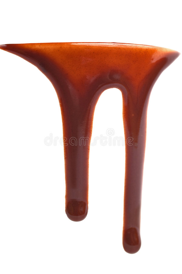 Gotejamento do chocolate quente imagem de stock royalty free