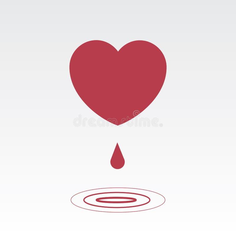 Gotejamento do coração ilustração stock