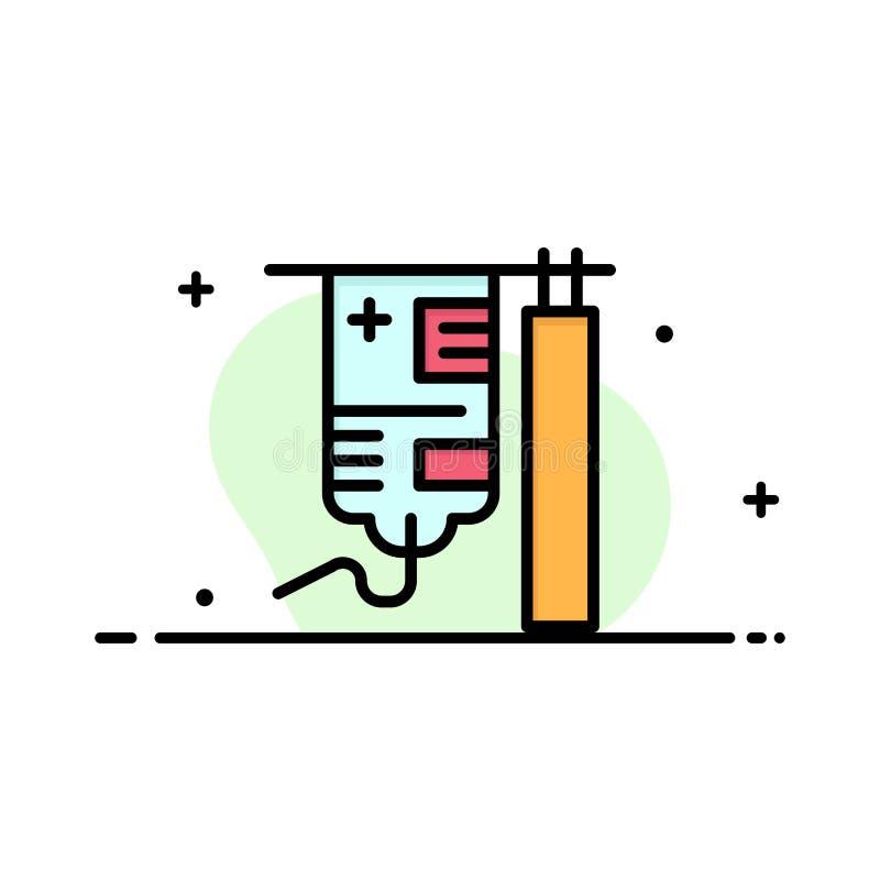 Gotejamento, hospital, médico, negócio Logo Template do tratamento cor lisa ilustração do vetor