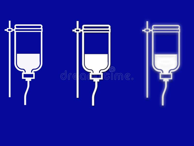 Gotejamento médico dos símbolos IV ilustração do vetor