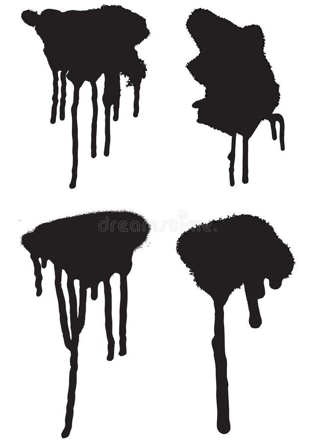 Gotejamentos 01 do pulverizador ilustração stock